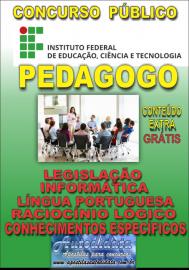 Apostila Digital Concurso INSTITUTO FEDERAL DE EDUCAÇÃO, CIÊNCIA E TECNOLOGIA DO PARÁ - IFPA - PA - 2019 - Pedagogo