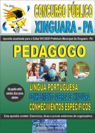 Apostila Impressa Concurso Público Prefeitura de Xinguara - PA 2020 Pedagogo