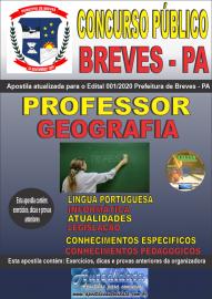 Apostila Impressa Concurso Público Prefeitura de Breves - PA 2020 Professor de Geografia