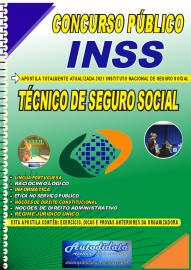 Apostila Impressa Concurso INSS 2021 Técnico de Seguro Social