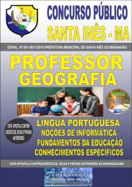 Apostila Impressa Concurso Prefeitura Municipal de Santa Inês - Maranhão 2019 Professor Geografia