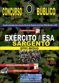 Apostila Digital Concurso Público Escola de Sargento das Armas (ESA) - 2020 Sargento do Exército Brasileiro