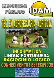 Apostila Impressa Concurso IDAM - AM 2018 - Técnico em Agropecuária - Agrícola