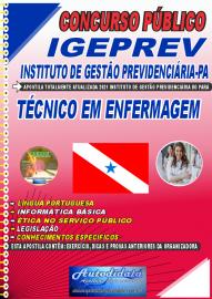 Apostila Impressa  Concurso IGEPREV-Instituto de Gestão Previdenciária-PA 2021 Técnico em Enfermagem