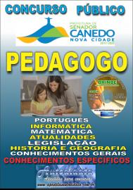Apostila Impressa SENADOR CANEDO/GO 2020 - Professor - Pedagogo