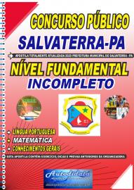 Apostila Impressa Concurso Público Prefeitura de Salvaterra - PA  2020 Fundamental Incompleto