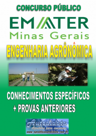 Apostila impressa concurso da EMATER-MG 2018  - ENGENHARIA AGRONOMICA