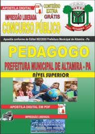 Apostila Digital Concurso Público Prefeitura Municipal de Altamira - Pa 2020 Área Pedagogo