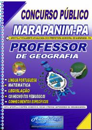 Apostila Impressa Concurso Público Prefeitura de Marapanim - PA 2020 Professor de Geografia