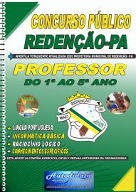 Apostila Impressa Concurso Público Prefeitura de Redenção - PA 2020 Professor do 1ª ao 5ª ano