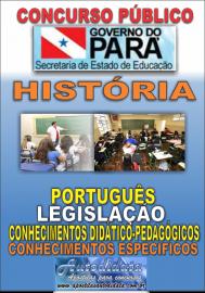 Apostila impressa Concurso SEDUC-PA 2018 - Professor de História
