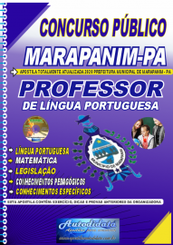 Apostila Impressa Concurso Público Prefeitura de Marapanim - PA 2020 Professor de Língua Portuguesa