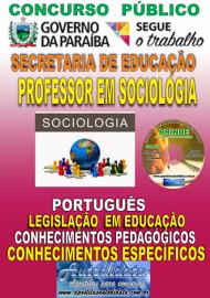 Apostila Impressa Concurso SEECT/PB - 2019 - Professor De Sociologia