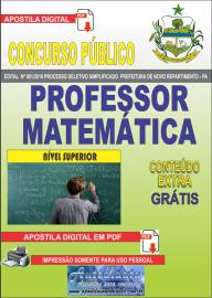 Apostila Digital Concurso Prefeitura Municipal Novo Repartimento - PA 2019 Professor Matemática