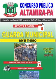 Apostila Digital Concurso Prefeitura de Altamira - PA 2020 - Guarda Municipal
