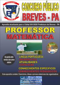 Apostila Impressa Concurso Público Prefeitura de Breves - PA 2020 Professor de Matemática