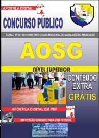 Apostila Digital Concurso Prefeitura Municipal de Santa Inês - Maranhão 2019 Professor AOSG