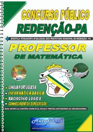 Apostila Impressa Concurso Público Prefeitura de Redenção - PA 2020 Professor de Matemática
