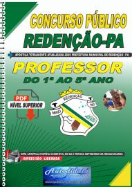 Apostila Digital Concurso Público Prefeitura de Redenção - PA 2020 Professor do 1ª ao 5ª ano