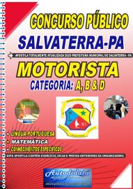 Apostila Impressa Concurso Público Prefeitura de Salvaterra - PA  2020 Motorista de Categoria: A, B e D