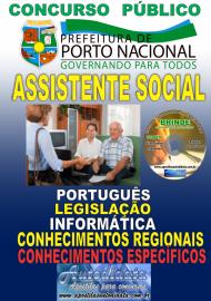 Apostila Impressa Concurso da Prefeitura de Porto Nacional - TO – 2019 - Assistente Social