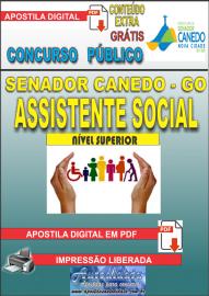 Apostila Digital SENADOR CANEDO/GO 2020 - Analista De Saúde/Assistente Social