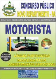 Apostila Impressa Concurso Prefeitura Municipal Novo Repartimento - PA 2019 Motorista