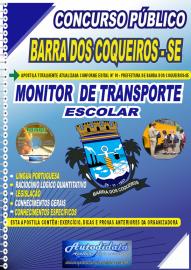 Apostila Impressa Concurso Público Prefeitura de Barra dos Coqueiros - SE 2020 Monitor de Transporte Escolar