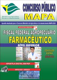 Apostila Digital Concurso Público do MAPA - 2020 Fiscal Federal Agropecuário - Farmacêutico