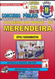 Apostila Digital Concurso JUAZEIRO DO NORTE - CE - 2019 - Merendeira