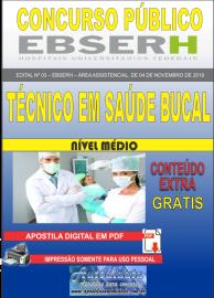 Apostila Digital Concurso EBSERH - 2019 Técnico em Saúde Bucal