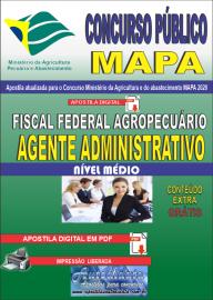 Apostila Digital Concurso Público do MAPA - 2020 Fiscal Federal Agropecuário - Agente Administrativo
