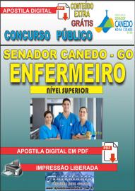 Apostila Digital SENADOR CANEDO/GO 2020 - Analista De Saúde/Enfermeiro