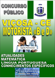 Apostila Digital Concurso VIÇOSA DO CEARÁ - CE - 2018 - Motorista categorias B e D