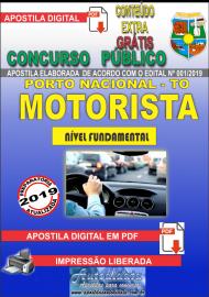 Apostila Digital Concurso da Prefeaitura de Porto Nacional - TO – 2019 - Motorista