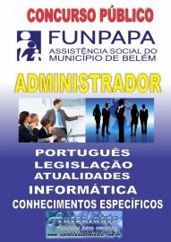 Apostila digital concurso da FUNPAPA-PA 2018 - Administrador