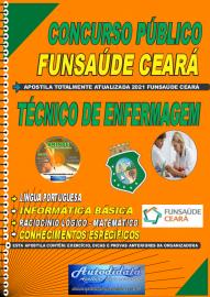 Apostila imprerssa concurso da Fundação Regional de Saúde Funsaúde-CEARÁ 2021 - TÉCNICO DE ENFERMAGEM