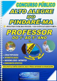 Apostila Impressa Concurso Público Alto Alegre do Pindaré - MA 2020 Professor do 1º ao 5º Ano