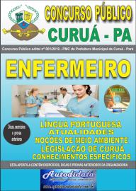 Apostila Impressa Concurso Público Prefeitura Municipal de Curuá - Pará 2019 Enfermeiro