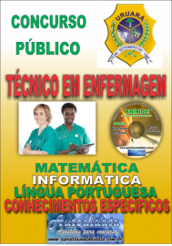 Apostila Impressa Processo Seletivo de URUARÁ/PA 2019 – Técnico Em Enfermagem