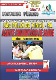 Apostila Digital Concurso SÃO FÉLIX DO XINGU/PA 2019 - Agente Comunitário De Saúde