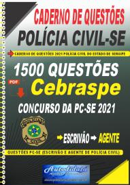 Apostila Impressa COMBO Concurso PC-SE Policia Civil de Sergipe 2021 Agente e Escrivão + CADERNO DE QUESTÕES