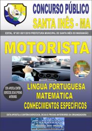 Apostila Impressa Concurso Prefeitura Municipal de Santa Inês - Maranhão 2019 Motorista