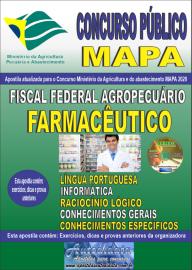 Apostila Impressa Concurso Público do MAPA - 2020 Fiscal Federal Agropecuário - Farmacêutico