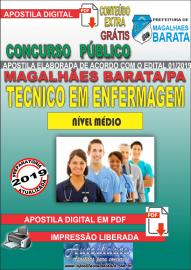 Apostila Digital Concurso de MAGALHÃES BARATA/PA 2019 – Técnico em Enfermagem