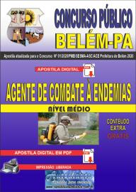 Apostila Digital Concurso Público Prefeitura de Belém - 2020 Agente de Combate à Endemias