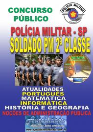 Apostila Impressa Concurso da POLÍCIA MILITAR - SP – 2019 - Soldado de 2ª Classe