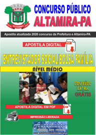 Apostila Digital Concurso Prefeitura de Altamira - PA 2020 - Entrevistador Social/Bolsa Família
