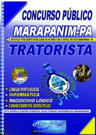 Apostila impressa concurso Marapanim - PA 2020 TRATORISTA