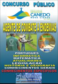 Apostila Impressa SENADOR CANEDO/GO 2020 - Agente De Combate A Endemias